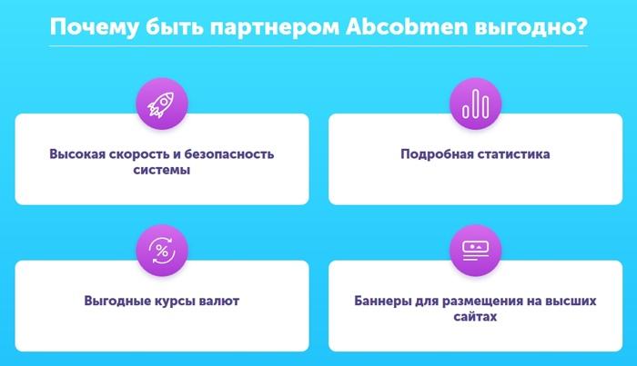 Abcobmen: партнерская программа