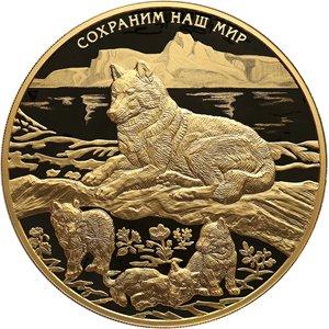 Полярный волк: золотая монета весом 1 килограмм